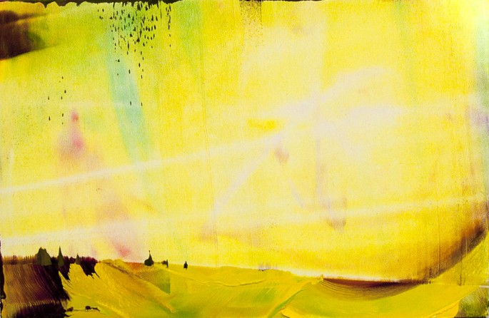 Yellow Landscape, öljy mdf-levylle, 20 x 30 cm, 2016