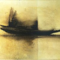 Boat on gold