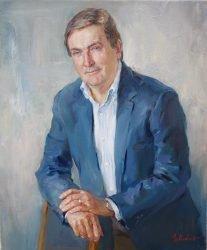 """""""Miehen muotokuva"""", öljy,60x50cm, 2016."""