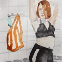 Self-portrait in my bathroom