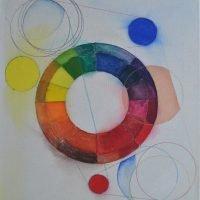 Abstrakti sommitelma väriympyrälle II
