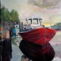 Veneitä Fjärdskärin kalasatamassa
