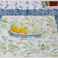 Lintupöytä ja kukkapöytä